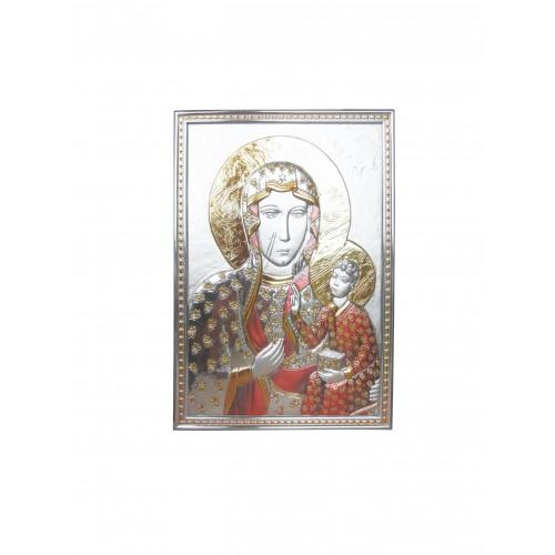 Obrazek srebrny Matka Boska Częstochowska 95004401