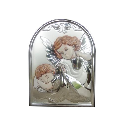 Obrazek srebrny Aniołek z latarenką 951293C