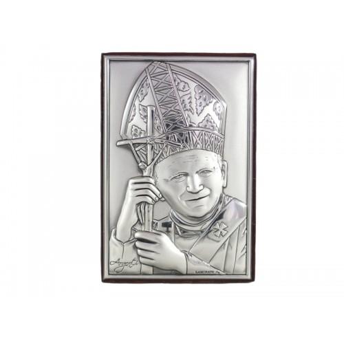 Obrazek srebrny Święty Jan Paweł II 95481