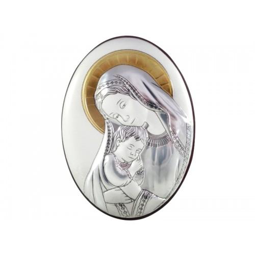 Obrazek srebrny Madonna z dzieciątkiem 95681