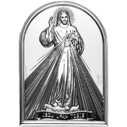 Obrazek srebrny  Jezu Ufam Tobie 95950