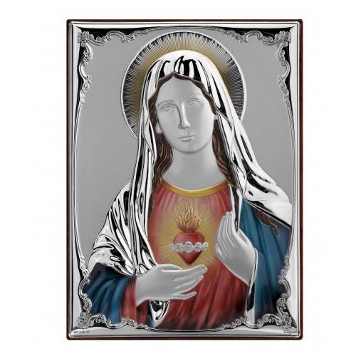 Obrazek srebrny Madonna z sercem 9825D
