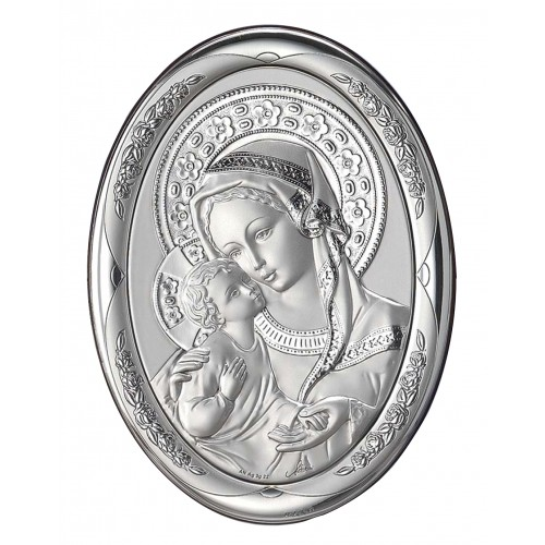 Obrazek srebrny Madonna z dzieciątkiem AG2068/469