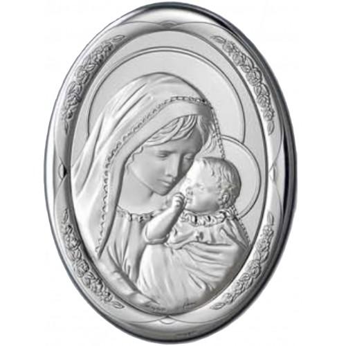 Obrazek srebrny Madonna z dzieciątkiem AG2098/470