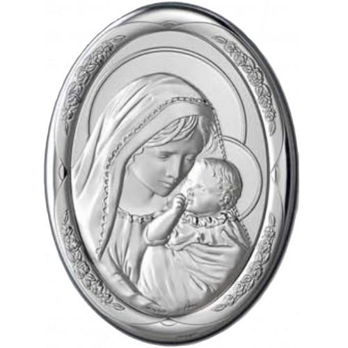 Obrazek srebrny Madonna z dzieciątkiem AG2099/471