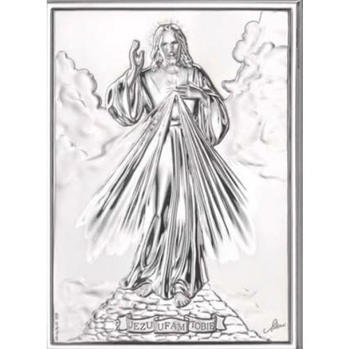 Obrazek srebrny Jezu Ufam Tobie AG2548/747