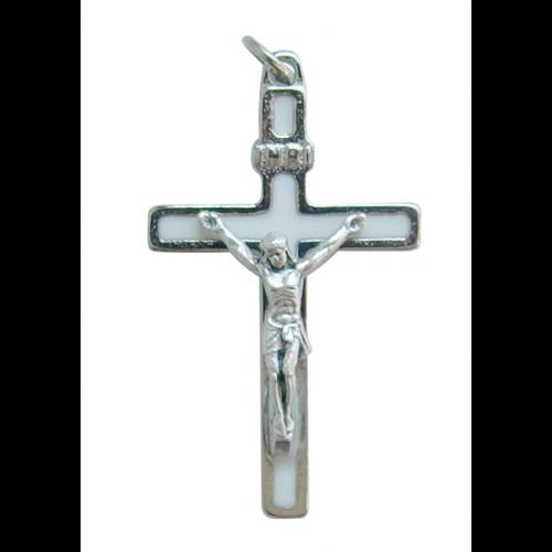 Krzyż Metalowy Biały CB40SN/BI