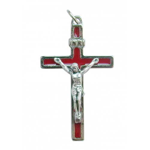 Krzyż Metalowy Czerwony CB40SN/RS