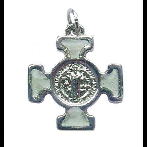Krzyż Benedyktyński Metalowy Fosforowy CN2115FS