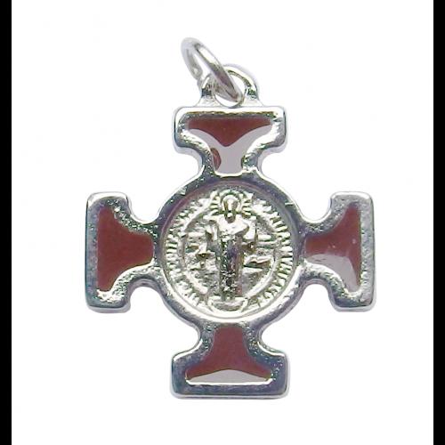 Krzyż Benedyktyński Metalowy Brązowy CN2115MA