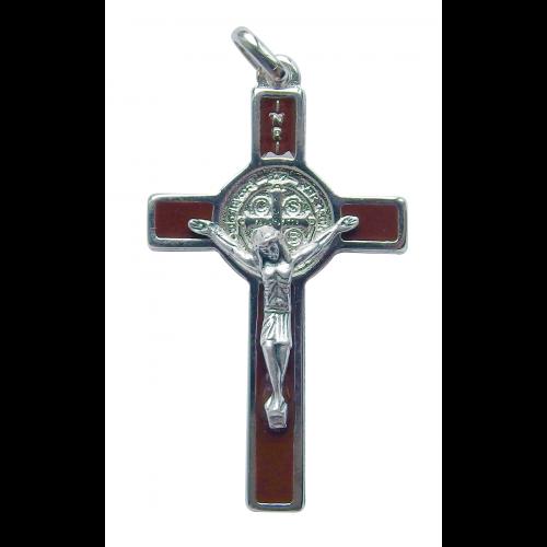 Krzyż Benedyktyński Metalowy Brązowy CSB50SN/MA