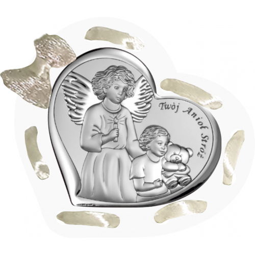Panel Aniołek nad dzieciątkiem ze świeczką D11/ARG/6526/1