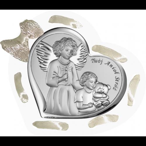Panel Aniołek nad dzieciątkiem ze świeczką D11T/ARG/6526/1