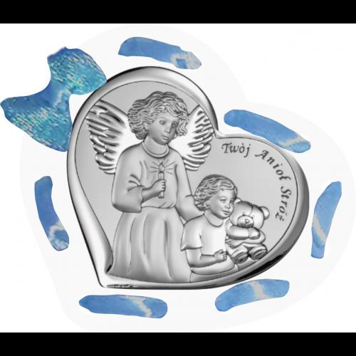 Panel Aniołek nad dzieciątkiem ze świeczką D11T/AZ/6526/1