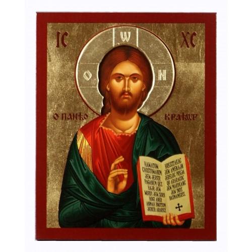Ikona Złocona z nimbem Chrystus Pantokrator IK C-04/N