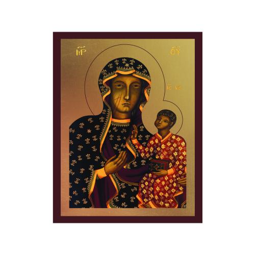 Ikona Złocona Matka Boska Częstochowska IK1A-04SZ