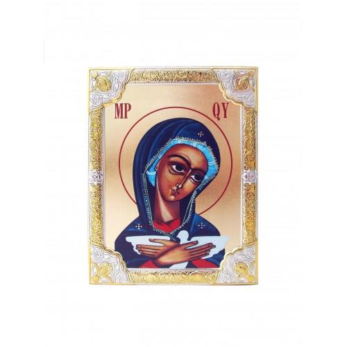 Ikona Srebrna Matka Boża Pneumatofora IK1A-05SZR
