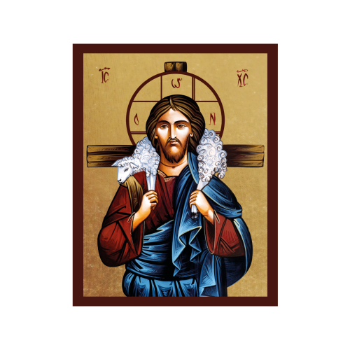 Ikona Złocona Chrystus Dobry Pasterz IK1A-06SZ