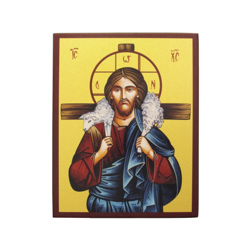 Ikona Prosta Chrystus Dobry Pasterz IK1C-06