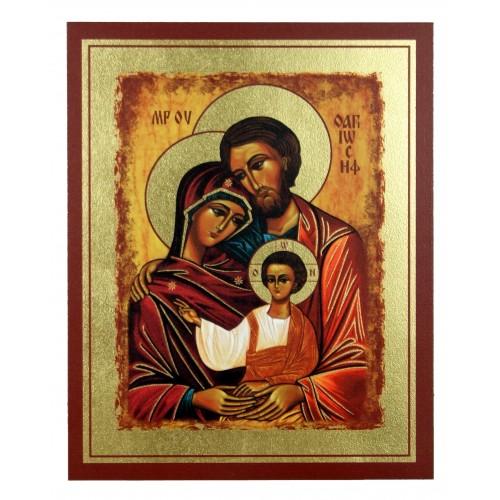 Ikona Złocona Święta Rodzina IK C-05