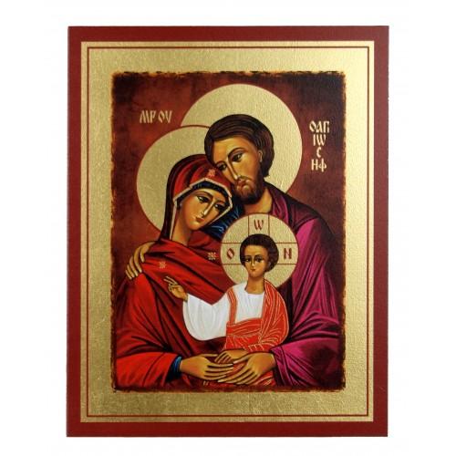 Ikona Złocona Święta Rodzina IK A-06