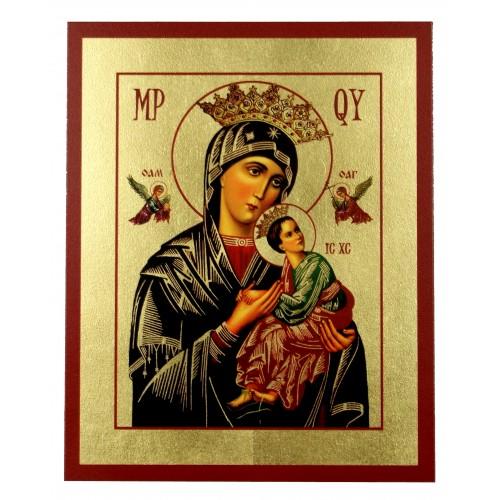 Ikona Złocona Matka Boska Nieustającej Pomocy IK C-10