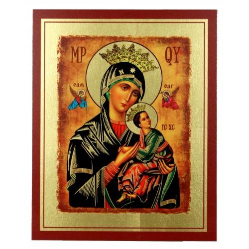 Ikona Złocona Matka Boska Nieustającej Pomocy IK A-11