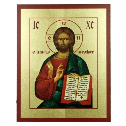 Ikona Złocona Chrystus Pantokrator IK D-15