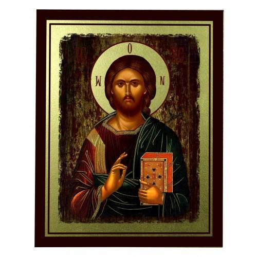 Ikona Złocona Chrystus Pantokrator IK C-16