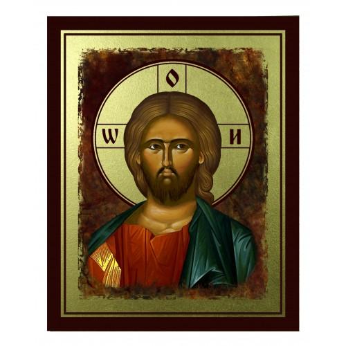 Ikona Złocona Chrystus Pantokrator IK B-17