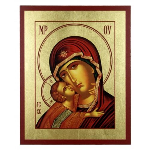 Ikona Złocona Matka Boska Włodzimierska IK C-19