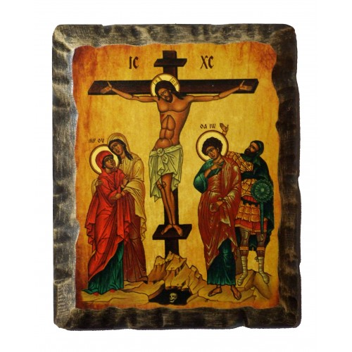 Ikona Stylizowana Trójca Święta (Trójca Rublowa) IKN D-15