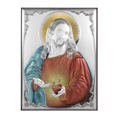 Obrazek srebrny Serce Jezusa 309811D