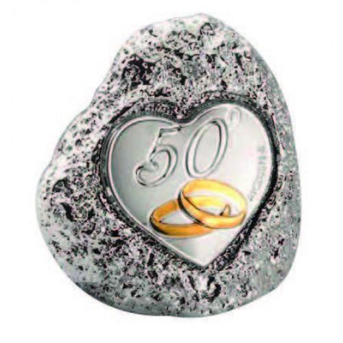 Figurka skałka 50-lecie Ślubu ma092/m