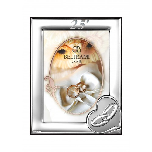 Ramka srebrna na zdjęcie 13x18 25-lecie Ślubu 1161N/254L