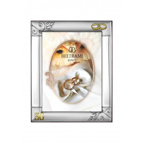Ramka Srebrna na zdjęcie 13x18 50-lecie Ślubu 1173/504