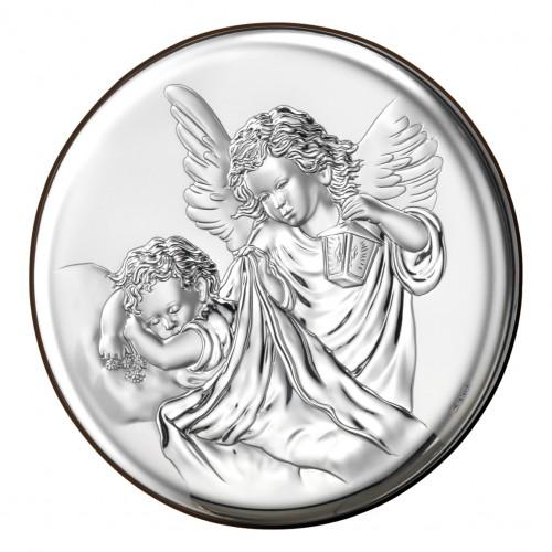 Obrazek srebrny  Aniołek z latarenką 18023 2XL