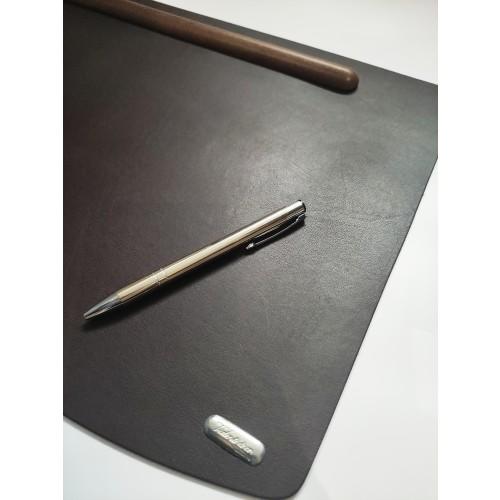 Valenti Podkładka na biurko ze skóry i drewna - 21524, 50x24