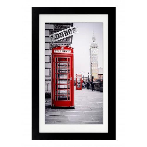 Ekskluzywny,duży obraz z czarną ramą-LONDYN 5512/7
