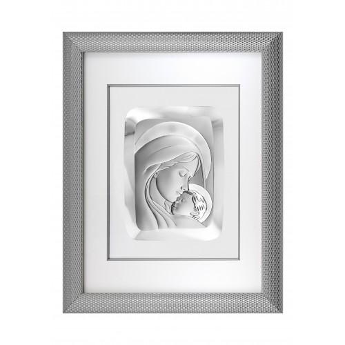 Obrazek srebrny Madonna z dzieciątkiem 6108/6, 52x66
