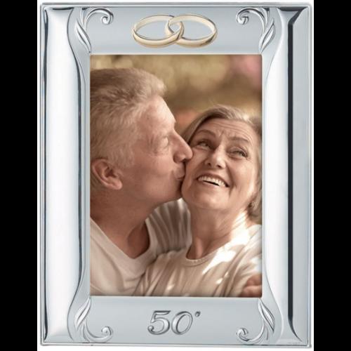 Ramka srebrna 50-lecie Ślubu 613/3, 9x13