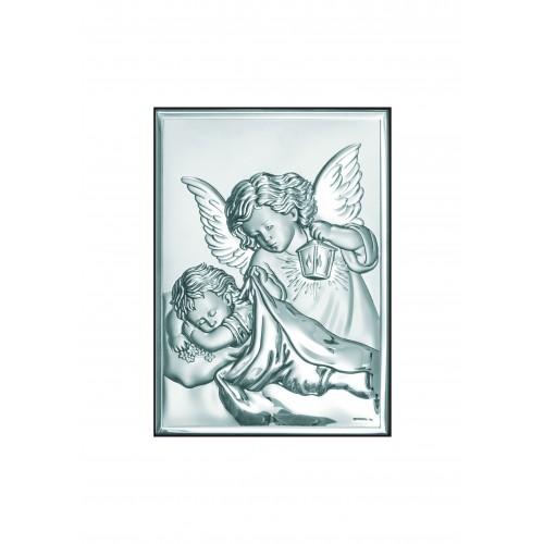 Obrazek srebrny  Aniołek z latarenką 6325/2X