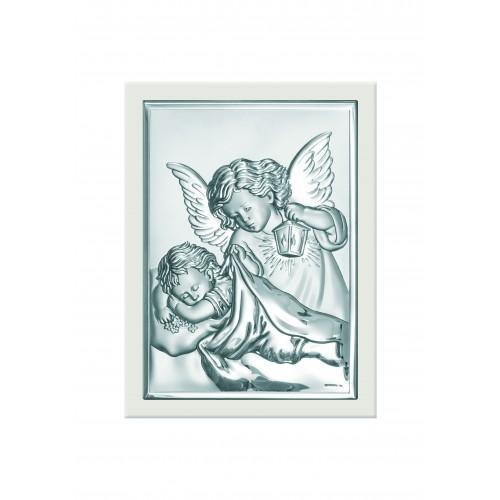 Obrazek srebrny  Aniołek z latarenką 6325/2XW