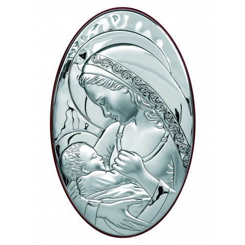 Obrazek srebrny  Madonna z dzieciątkiem 6336/7