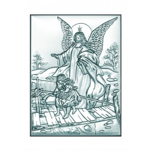 Obrazek srebrny  Anioł na kładce 6349/2X