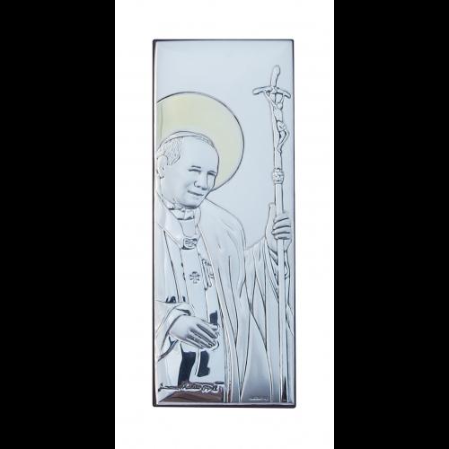 Obrazek srebrny Święty Jan Paweł II 6360/3O, 6x15