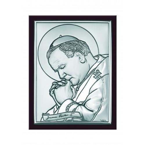 Obrazek srebrny  Święty Jan Paweł II 6367/3WM