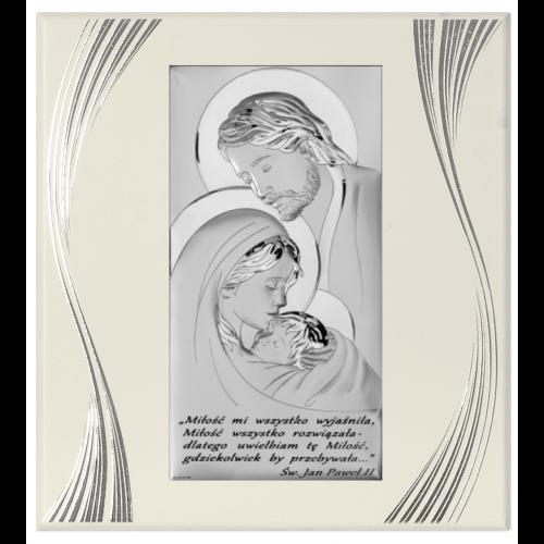 Obrazek Święta Rodzina na jasnym drewnie Z NAPISEM 6380SFP/5
