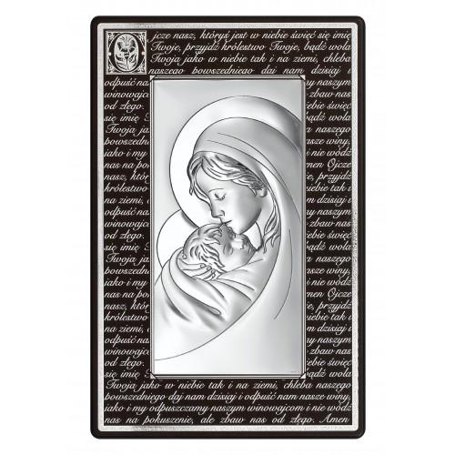 Obrazek srebrny Madonna - Ojcze Nasz 6381M/3N