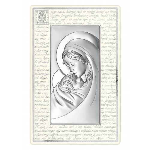 Obrazek srebrny Madonna - Ojcze Nasz 6381P/2XN